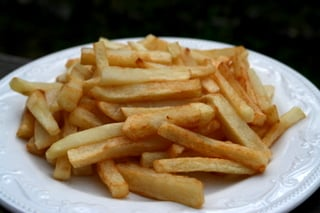 Salchipapas or french fries