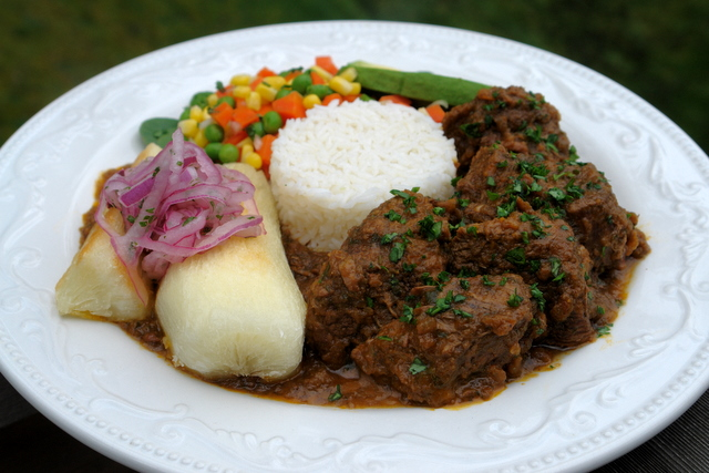 Seco de borrego or lamb stew