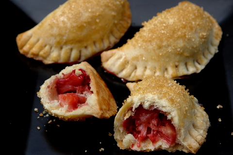 Strawberry and rhubarb empanadas