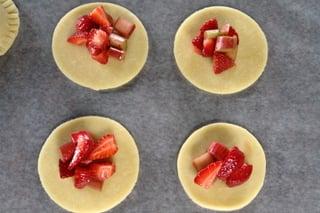 rhubarb strawberry empanadas