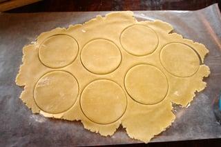 Sweet empanada discs