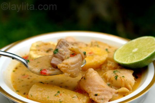 Biche de pescado or viche de pescado fish soup