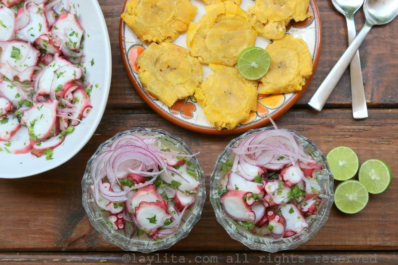 Ceviche de pulpo recipe