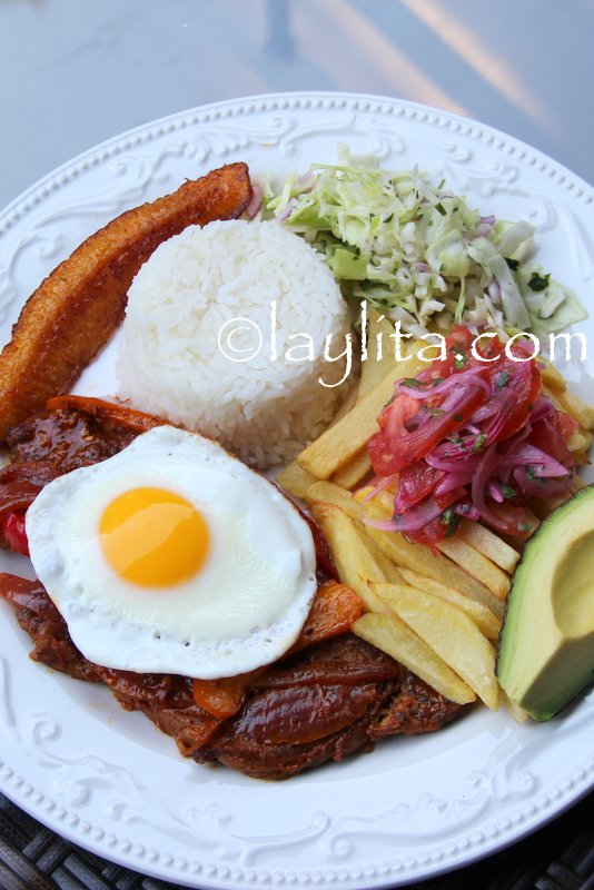 Ecuadorian churrasco steak