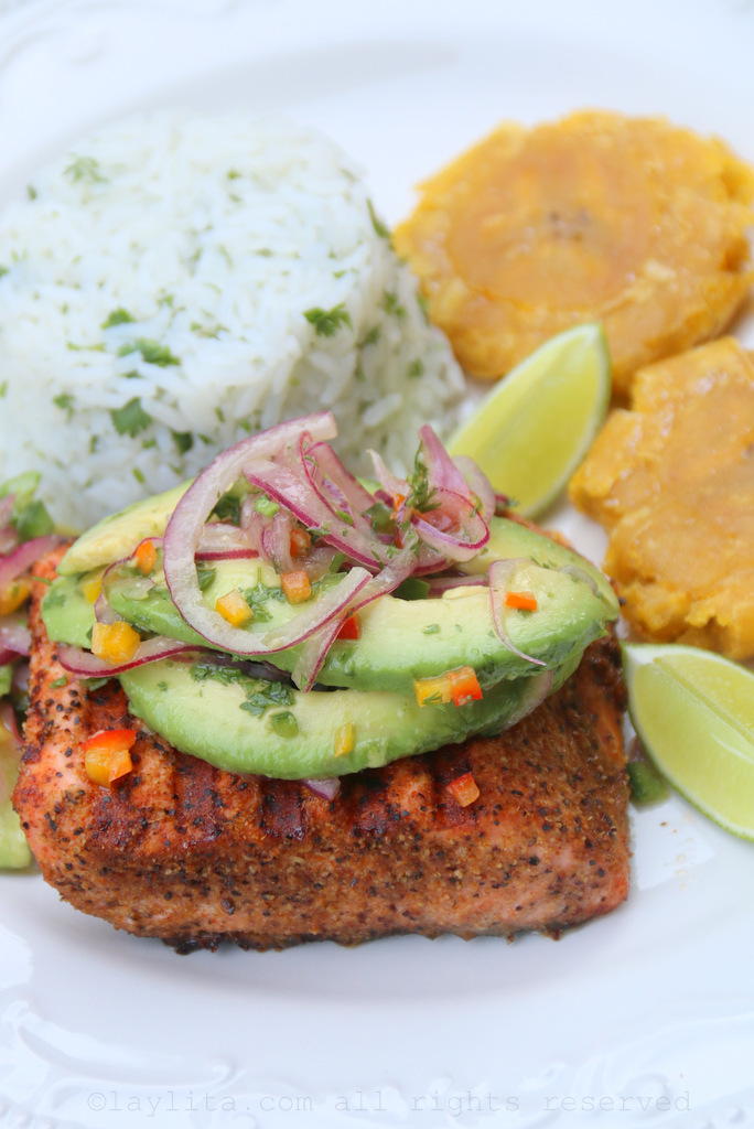 Grilled fish with avocado salsa recipe