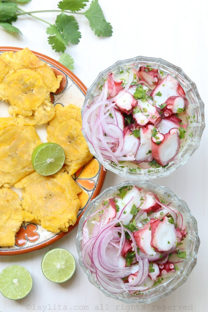 Octopus ceviche or ceviche de pulpo recipe