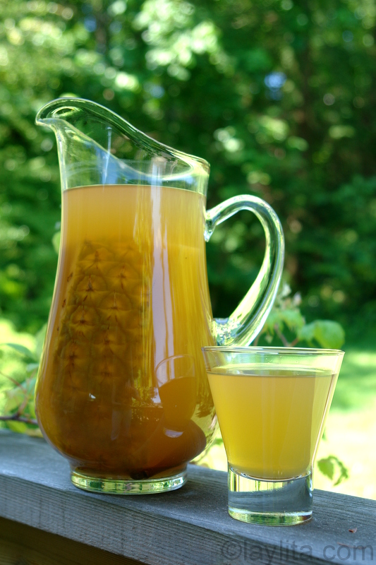 Pineapple chicha drink