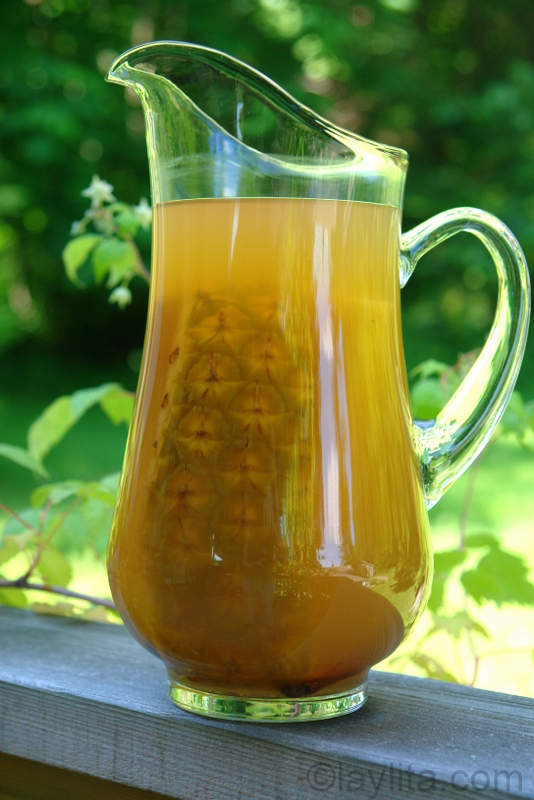 Spiced pineapple drink or pineapple chicha