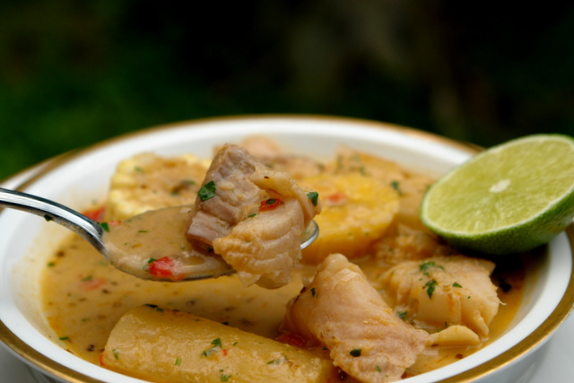Biche de pescado or fish soup