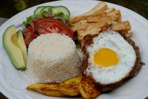 Ecuadorian churrasco plate