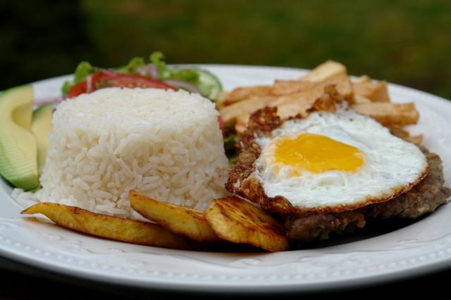 Ecuadorian churrasco is sort of the poorer cousin of the Brazilian,