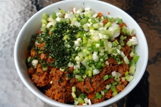 Beef picadillo or filling for empanadas