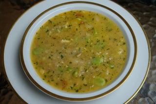 Fava bean locro or soup