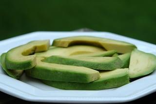 Avocado slices for soup
