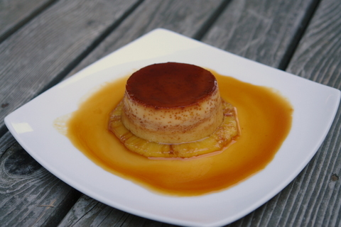 Pineapple flan custard