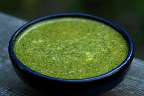 Quick chimichurri sauce