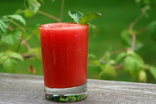 Non-alcoholic watermelon mimosa