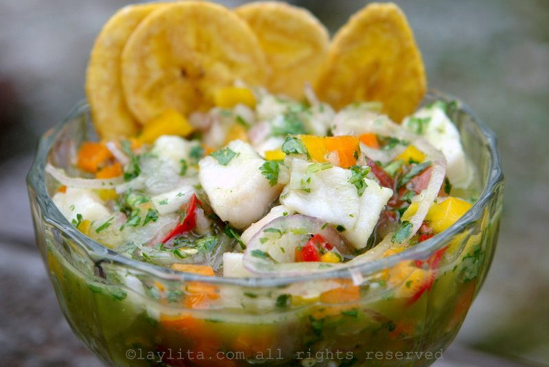 Ecuadorian fish ceviche or fish cebiche recipe