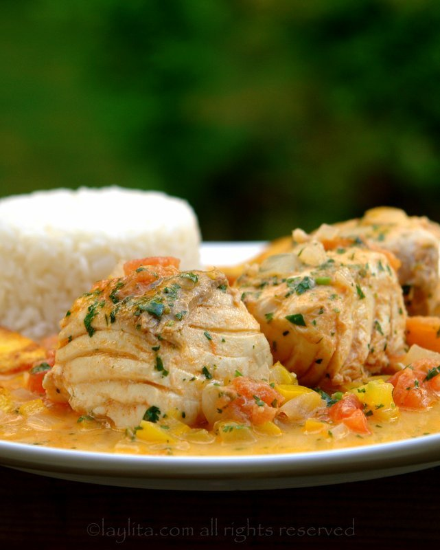 Ecuadorian fish with coconut