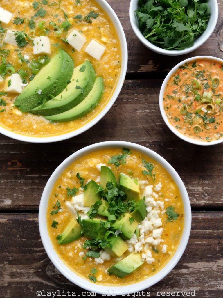 Ecuadorian locro soup with quinoa