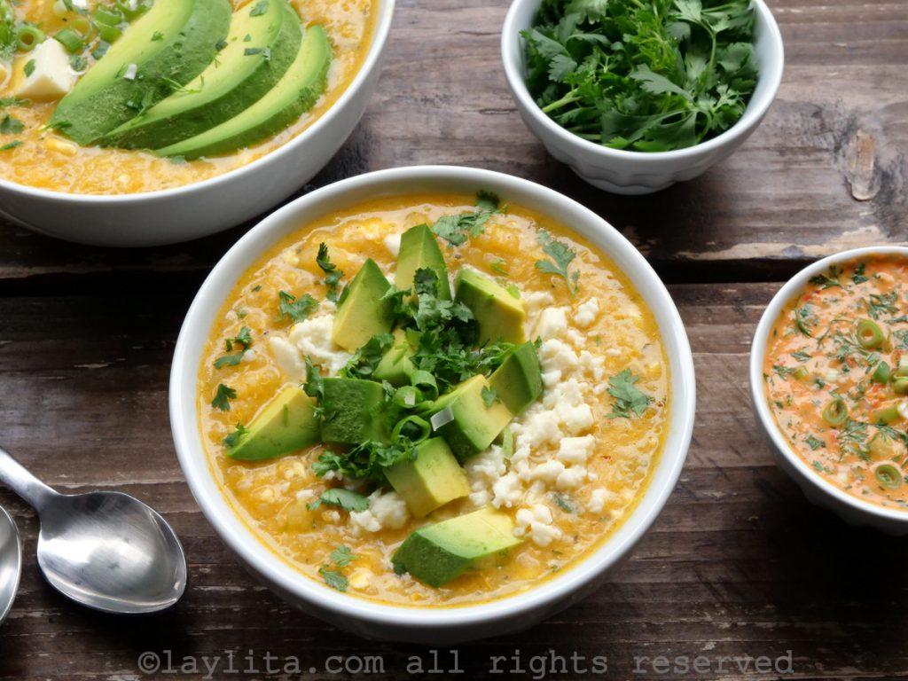 Ecuadorian quinoa, potato and cheese soup