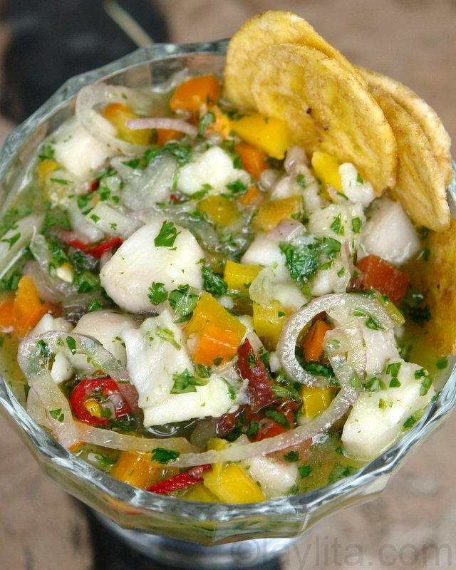 Fish ceviche ceviche de pescado laylita 39 s recipes for Shrimp and fish ceviche