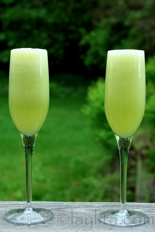 Cocktail apéritif: bellini au melon miel