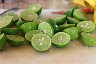 Limes for ceviche in Ecuador