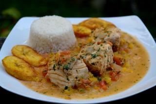 Pescado encocado or fish in coconut sauce