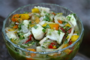 Fish ceviche or ceviche de pescado