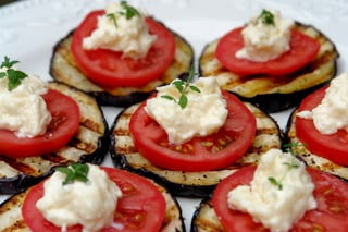 Eggplant and tomato appetizer