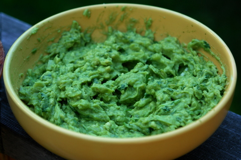 Homemade guacamole recipe