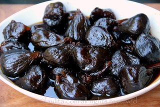 Higos pasados or figs in panela syrup