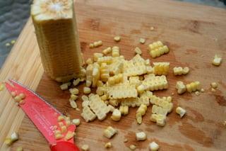 Separe os grãos do sabugo