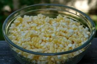 Grãos de milho verde