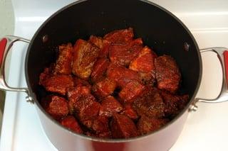 Ragoût de viande - étape 1