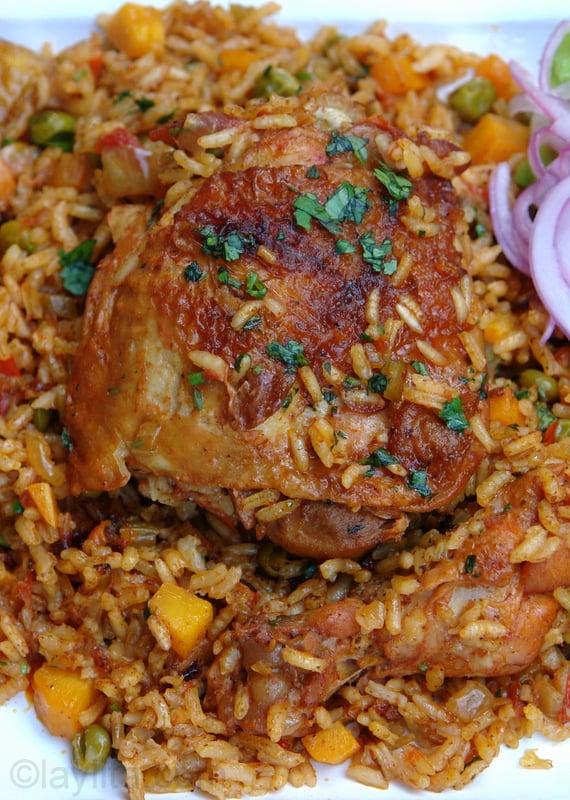 Arroz com frango (arroz con pollo)