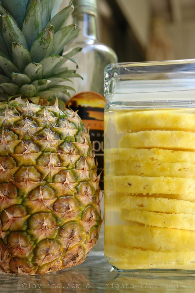How to infuse cachaca with pineapple