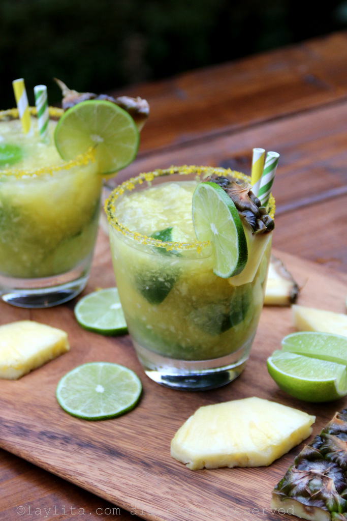 Pineapple caipirinha recipe