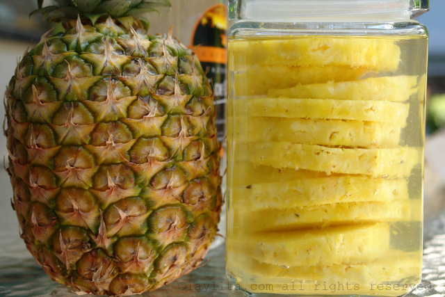 Pineapple infused cachaca