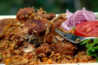 Arroz con pollo or Latin style rice with chicken