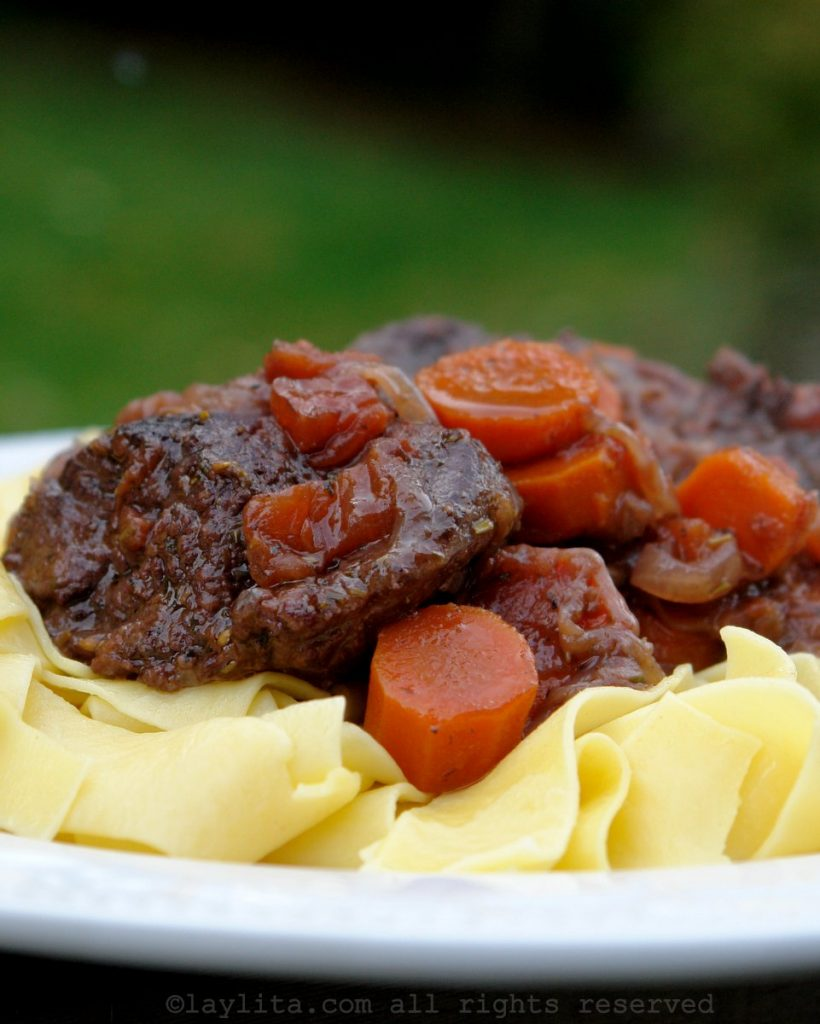 Beef stew with red wine - French daube