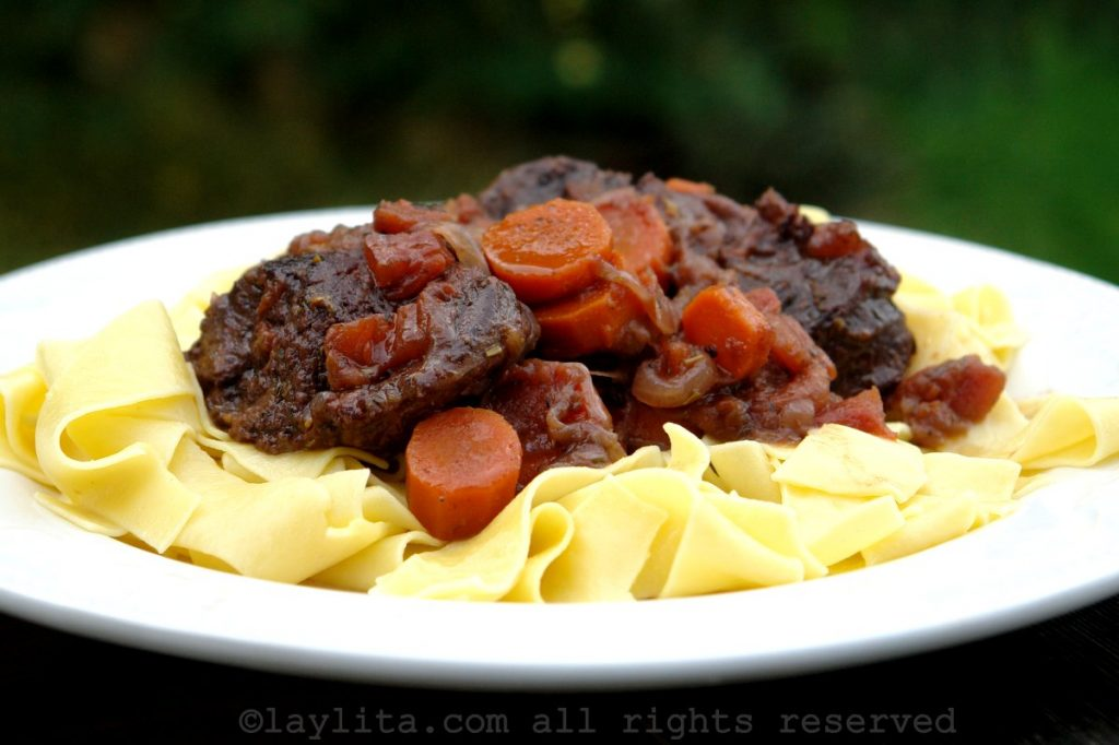 Provenzal beef stew or daube recipe