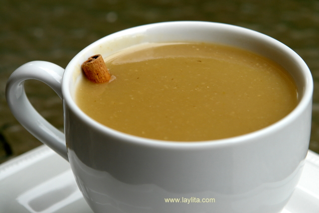 Colada de avena con naranjilla. Naranjillas or lulos are another essential