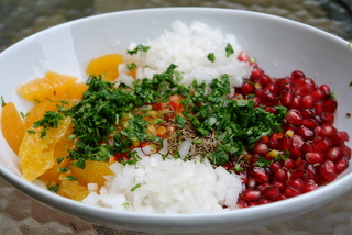 Pomegranate salsa ingredients