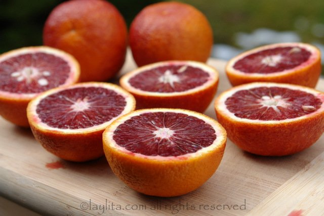 Blood oranges for cocktails