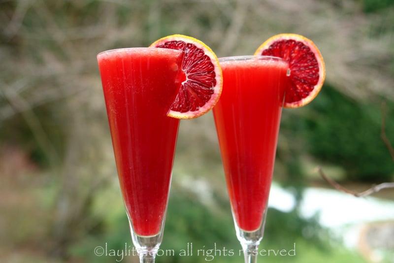Bubbly blood orange campari cocktail