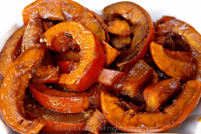 Candied pumpkin or dulce de calabaza/zapallo