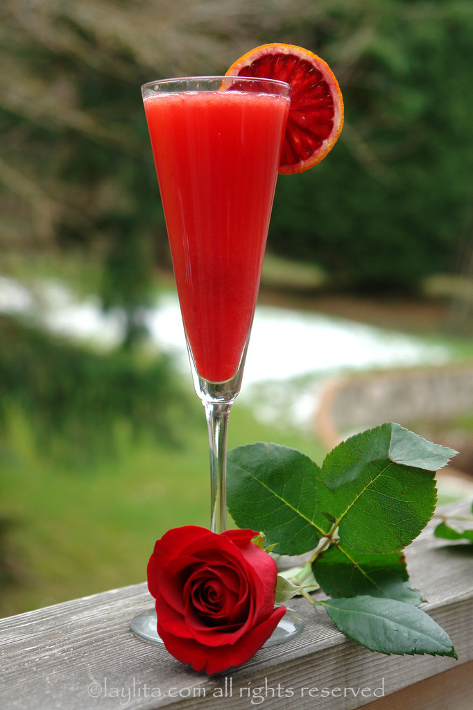 Valentine's Day cocktail drink