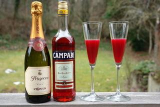 Ingredientes para el coctel de naranja y Campari